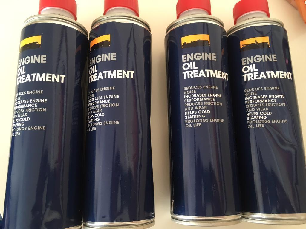 4 cans of Halfords engine oil treatment 500ml