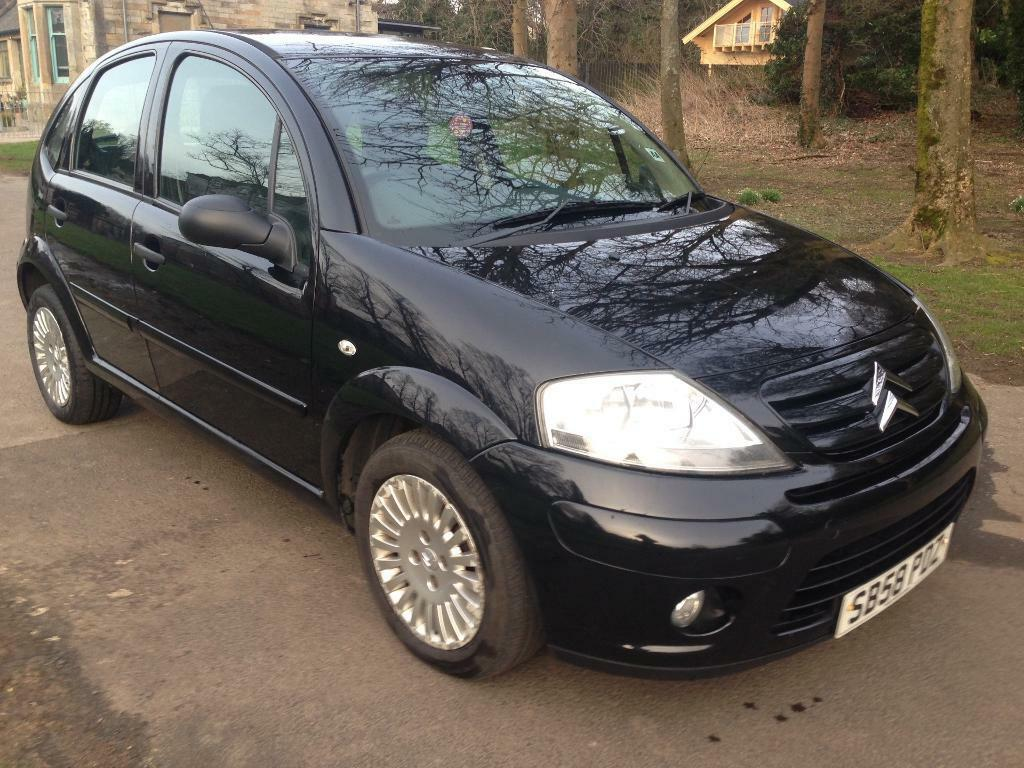 citroen c3 16v exclusive plus 5dr black 2009 in southside glasgow gumtree. Black Bedroom Furniture Sets. Home Design Ideas