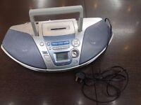 Silver Grey Panasonic RX-ES27 Portable Stereo CD Player System Power Blaster