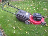Champion petrol lawn mower