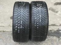 2 part worn tyres 225/45/17 FULDA KRISTAL SUPREMO