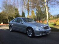 MERCEDES C280 SILVER 3.0 SALOON FMBSH SUPER CLEAN AND PERFECT DRIVE 2006 2ND OWNER PETROL AUTO