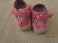 Clarks infant shoes size 4f.