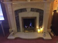 Fireplace - marble/resin