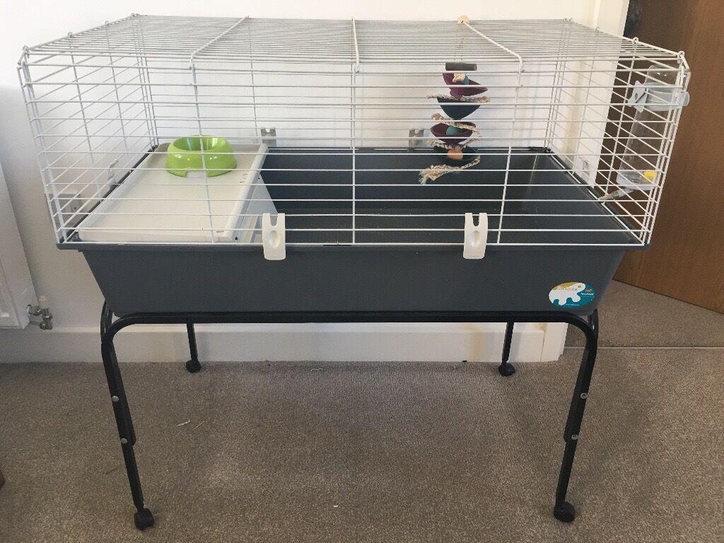 Very best Rabbit 100 Indoor Rabbit/Guinea Pig Cage and Metal Cage Stand | in  SP08