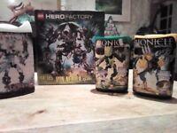 Several Bionicle & Hero Factory