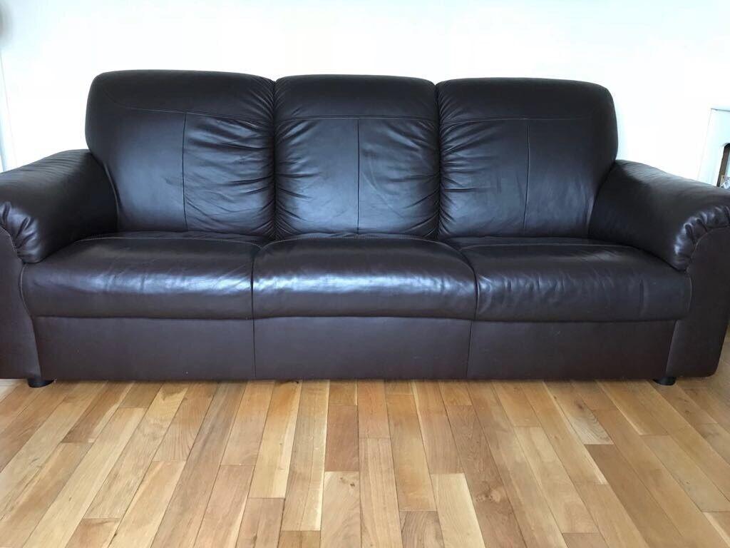 Ikea Timsfors 2 Seat Amp 3 Seat Leather Sofa Mjuk Kimstad