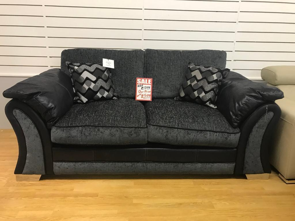 Dfs Charcoal And Black Fabric Sofa Bed