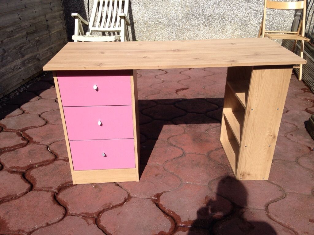 Pink And Brown Desk