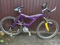 Rayleigh mountain bike. Front suspension 18 gears good working order only £40 ono