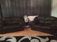 X2 leather sofas