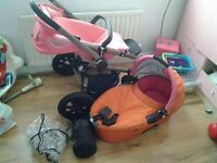 Quinny buzz travel system used good condition 100 pound ono comes with carry cot