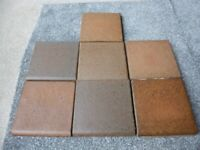 46 Clay Floor Tiles - 6 inch square - ideal for a hearth, windowsill or small area