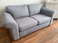 DFS Owen Formal Back 2 Seater Sofa Bed