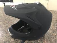 MINI MOTO FULL FACE QUAD BIKE HELMET 55-56cm BLACK