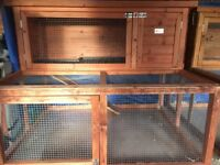 Second hand two storey rabbit hutch with ladder. Good condition