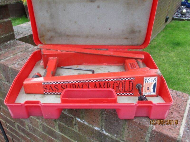 SAS Superclamp Gold caravan wheel clamp - used, used for sale  Newton Aycliffe, County Durham