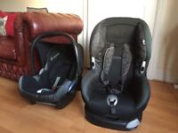 2x Car seats Maxi-Cosi from 0 to 13 kgs and 9 to 18 kgs