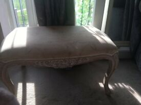 Shabby chic footstool