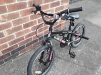 "APOLLO BOOGIE BMX BIKE - 18"" WHEELS - SUITABLE FOR 6 - 9 YEARS includes safety helmet"