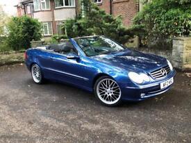 Mercedes Benz CLK Convertible 53 reg only 75,000 miles