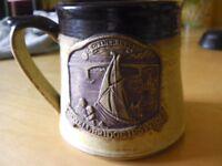 Handmade Stoneware Pottery Mugs X 2