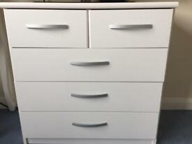 White chest of drawers as NEW