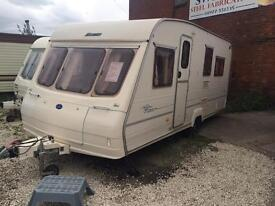 5/6 BERTH BAILEY HUNTER WITH DOUBLE BED AN BUNKBEDS AND MORE IN STOCK AND WE CAN DELIVER AWNING