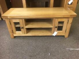 Solid oak TV stand **free furniture delivery**