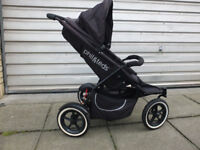Phil&Teds Classic Black/charcoal Single Seat Stroller