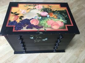 Small hand painted chest of drawers