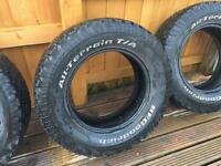 BF Goodrich All Terrain T/A KO truck 4x4 used good tyres