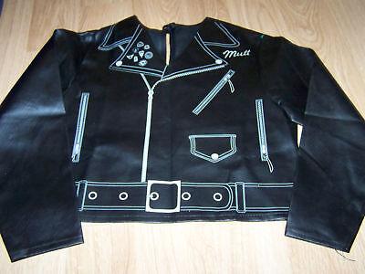 Boy's Size Medium 8 Indiana Jones Mutt Halloween Costume Jacket Black Biker GUC
