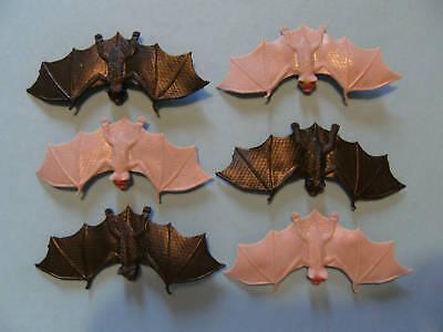 Fledermaus Fledermäuse Hartgummi 6erSet je 11,5 cm neu Vampir Vampire Halloween ()