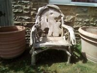 Root throne chair