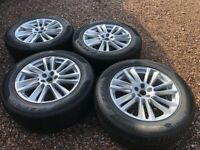 """Genuine 19"""" Jaguar F Pace Alloy Wheels Fitted with 255/55R19 Pirelli Tyres"""
