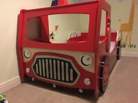 Kids bed fire engine single