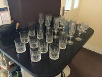 Large selection of heavy crystal glassware. Various items for all occasions
