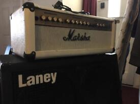 Marshall amp and laney speakers