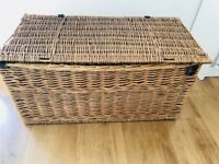 Wicker Large Trunk - Storage Box with Handles