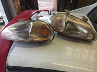 Honda Crx Del Sol Jdm Headlights One Piece