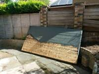 Free shed roof