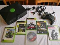 Original Xbox with Controller and Games