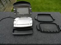 George Foreman grill with detachable plates