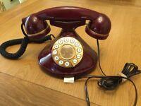BURGUNDY TELEPHONE