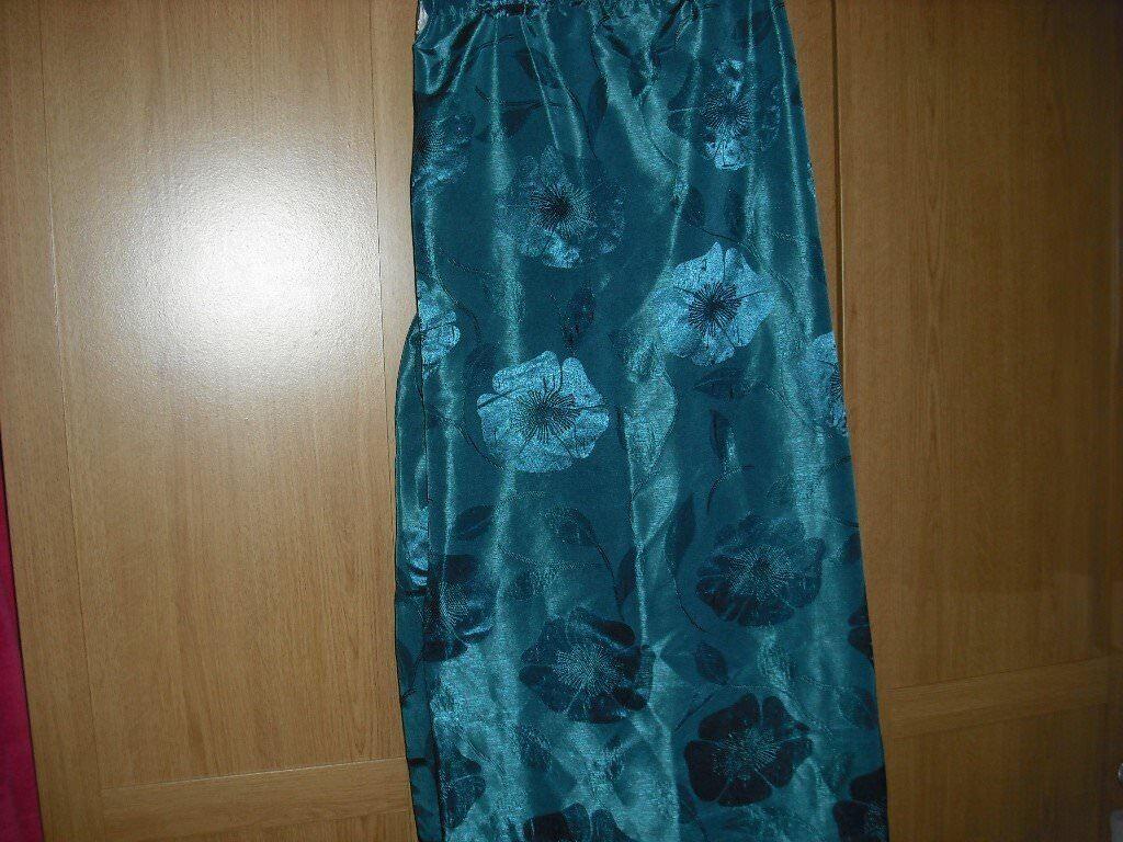 Dark teal curtains 90 x 90