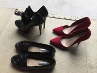 3 SETS OF NEW WOMENS SHOES - EXCELLENT CONDITION