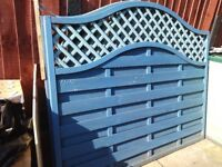 3 wave fence panels 6ft -5ft for sale must collec
