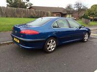 Peugeot 607 SE, 2004, Blue, 2.0HDI Diesel, 12 MONTHS MOT, Low Mileage, Full Service History, SAT NAV