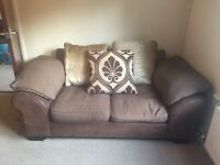 2 x 2 seater sofas and footstool with storage